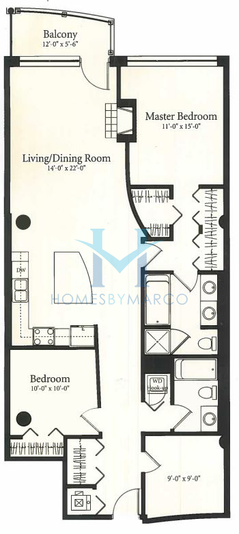 03 model in the museum park towers subdivision in chicago for 1235 s prairie floor plans