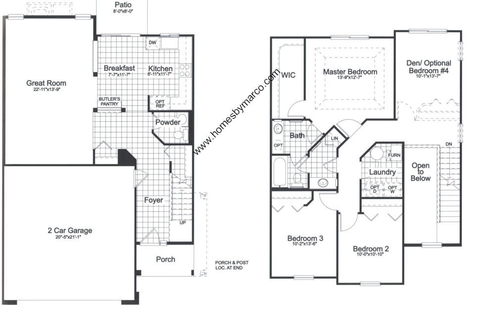 Homes By Marco Floor Plans: Coventry Subdivision In Lake In The Hills, Illinois, Homes