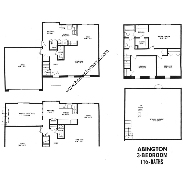 Abington model in the devonshire subdivision in buffalo for Devonshire floor plan