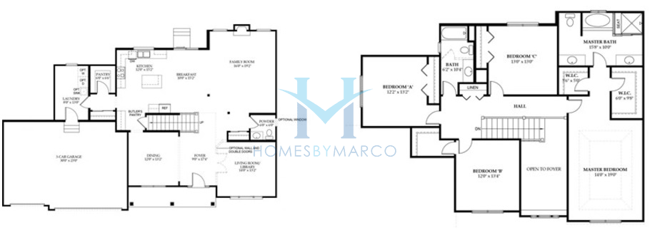 Homes By Marco Floor Plans: Ainsley Model In The Ashwood Park Subdivision In