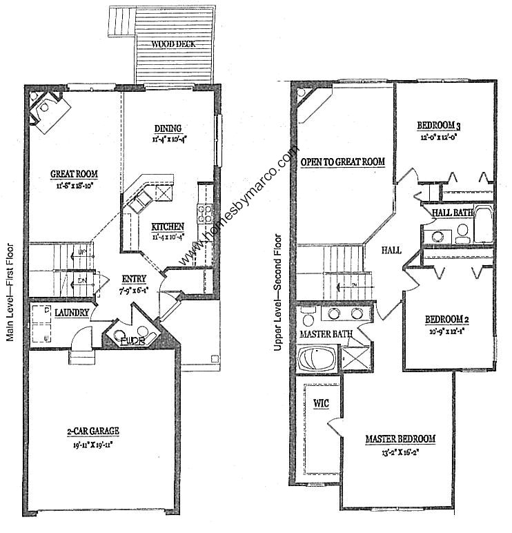 Best townhome floor plans joy studio design gallery for Townhouse building plans