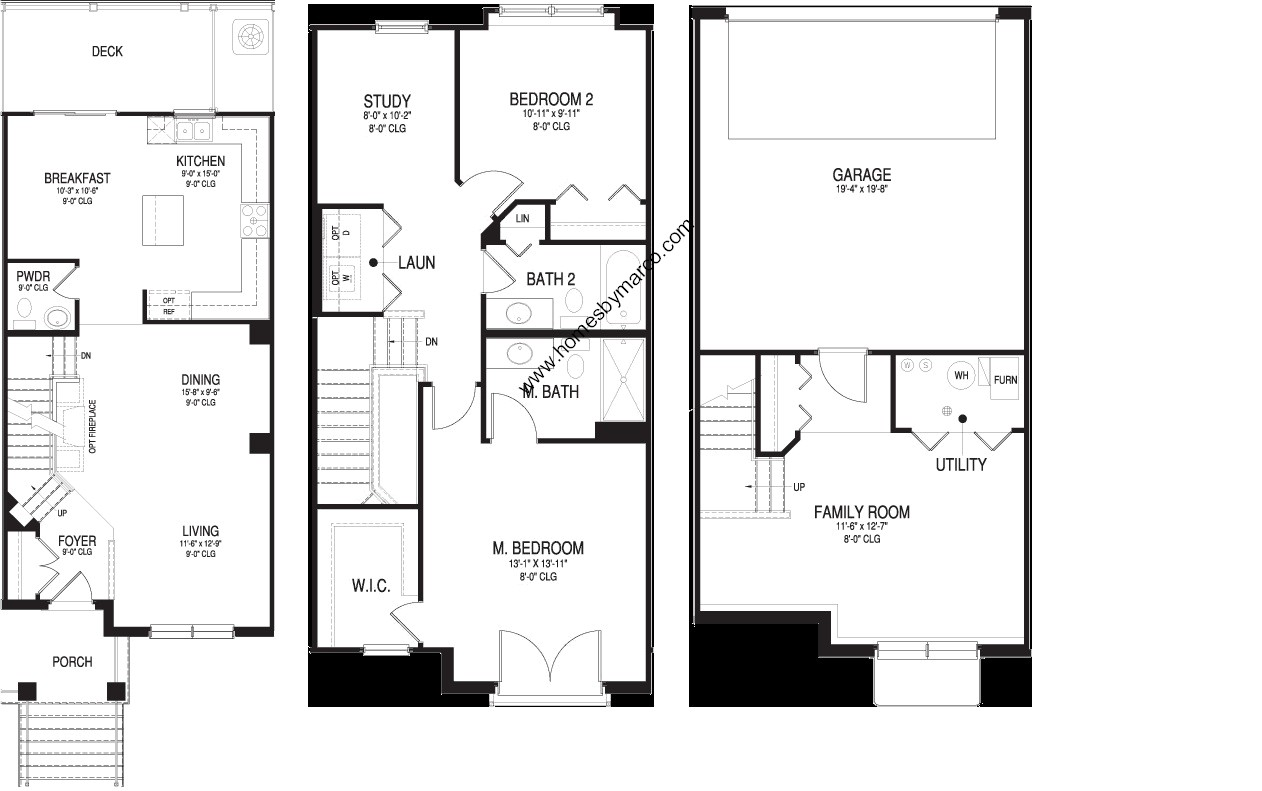 Aston model in the waterbury place subdivision in buffalo for Subdivision house plans