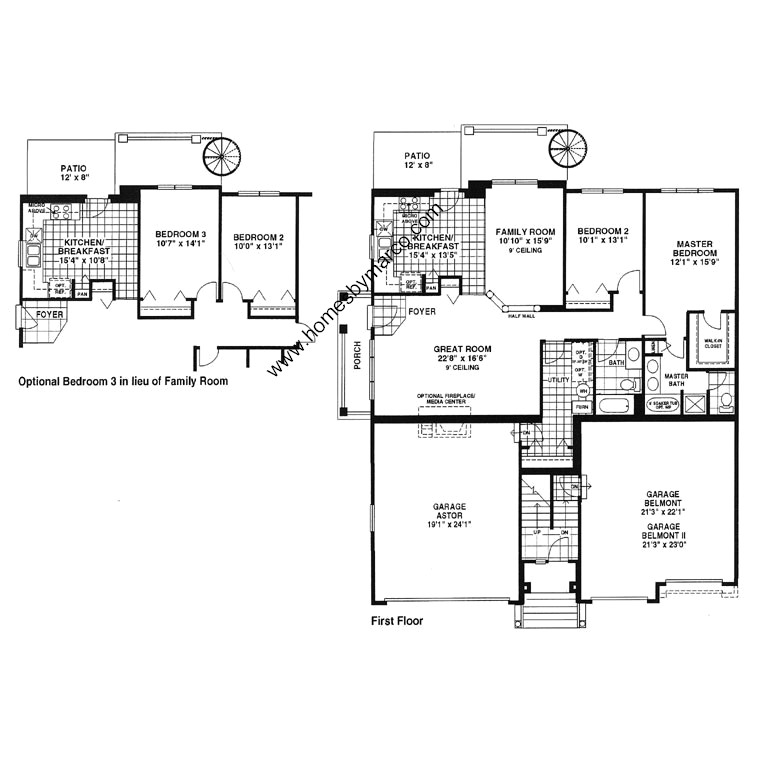 Astor model in the saddlebrook subdivision in vernon hills for Lucky 4 ranch floor plan
