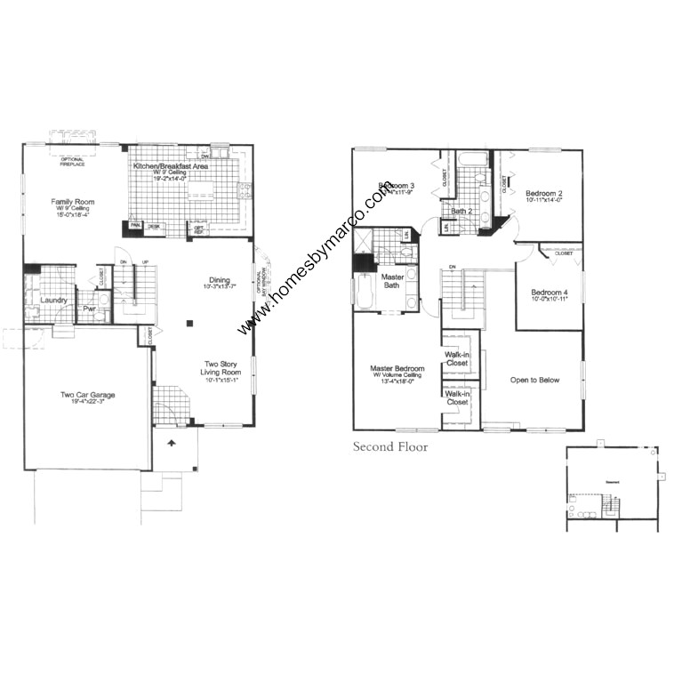 Avalon model in the cambria subdivision in cary illinois for Avalon floor plan