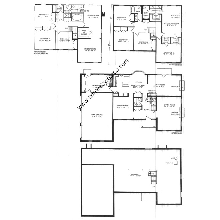 Avondale model in the kildeer lake estates subdivision in Avondale house plan