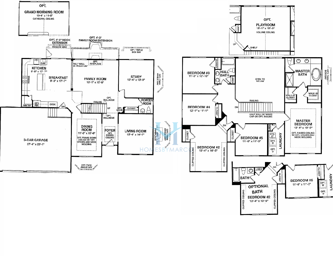 Bainbridge model in the cheswick place subdivision in lake Place builders floor plans