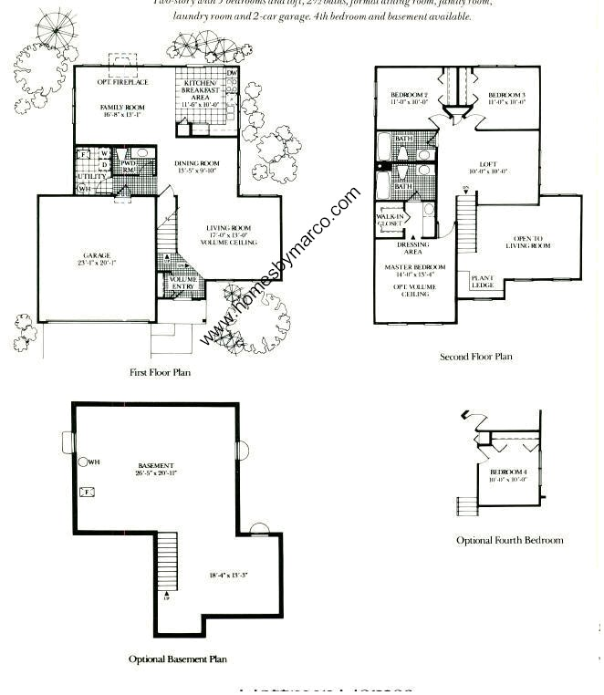 Baldwin model in the hunters crossing subdivision in carol for Baldwin floor plan