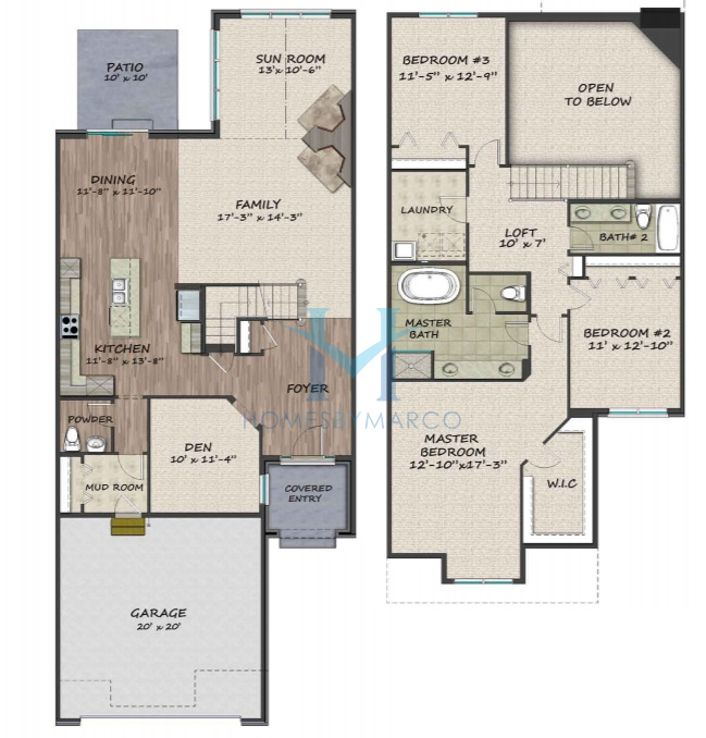 Timber Floor Plans: Banbury Model In The Timber Trails Subdivision In Western
