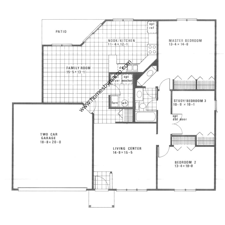 Barberry model in the fernwood lakes subdivision in for Lucky 4 ranch floor plan