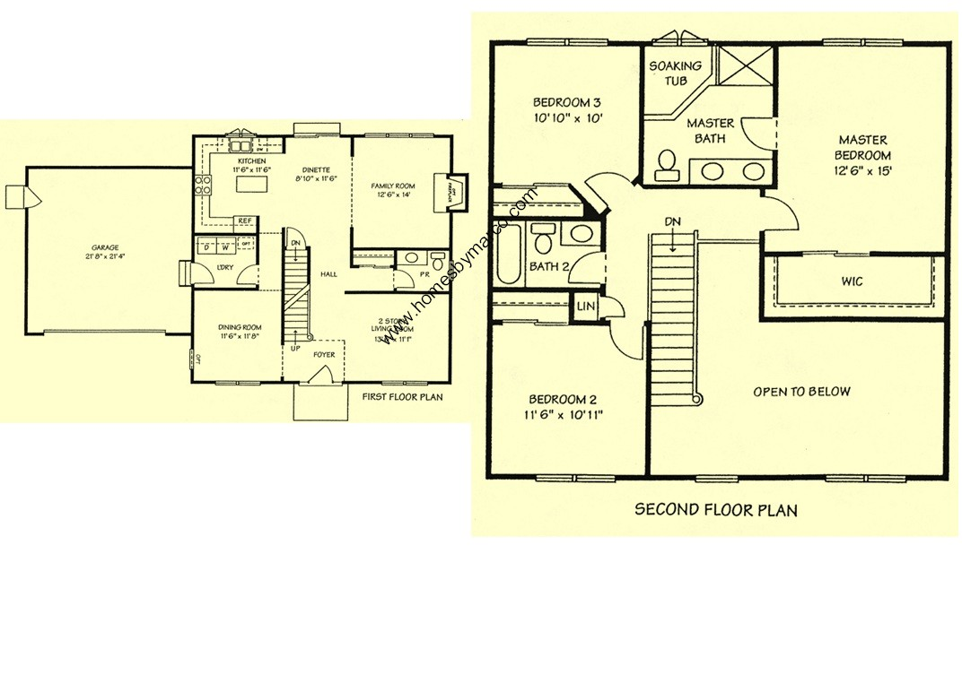 Barrington model in the liberty trails subdivision in for Barrington floor plan