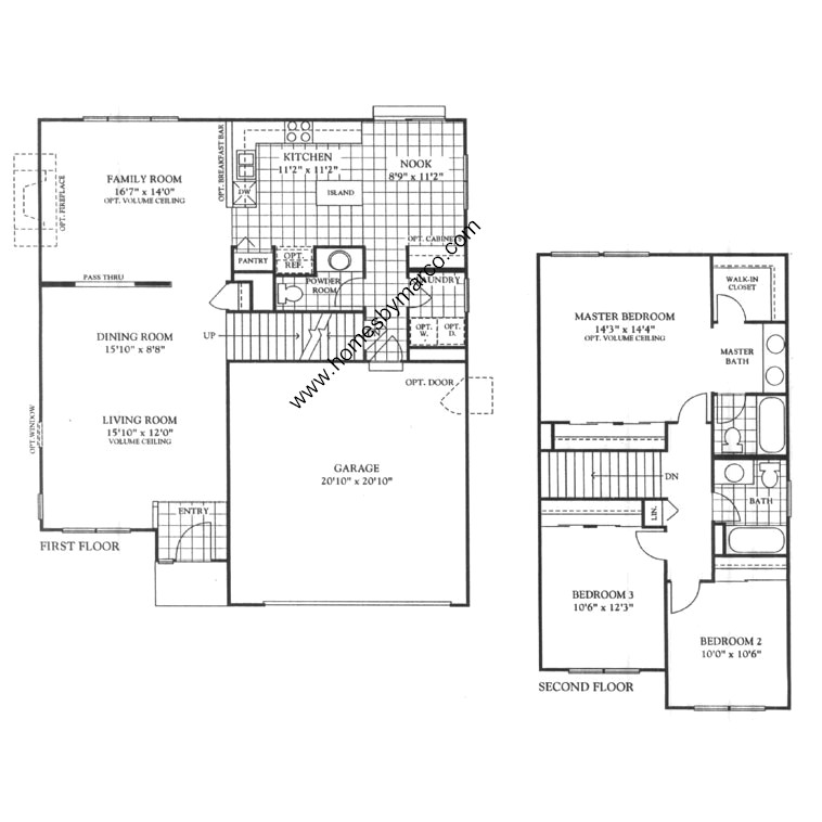 Arbor Homes Floor Plans: Bayberry Model In The Arbor Gate Subdivision In Oswego