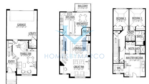 Belmont model in the park place of geneva subdivision in for Park place floor plans