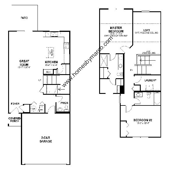 Benton model in the whitmore place subdivision in st Place builders floor plans
