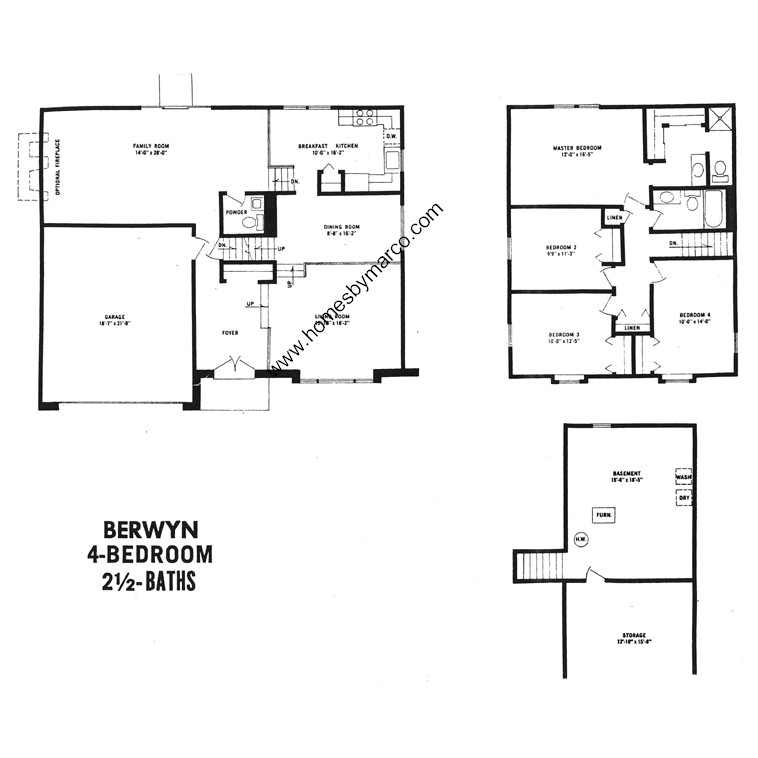 Berwyn model in the devonshire subdivision in buffalo for Devonshire floor plan