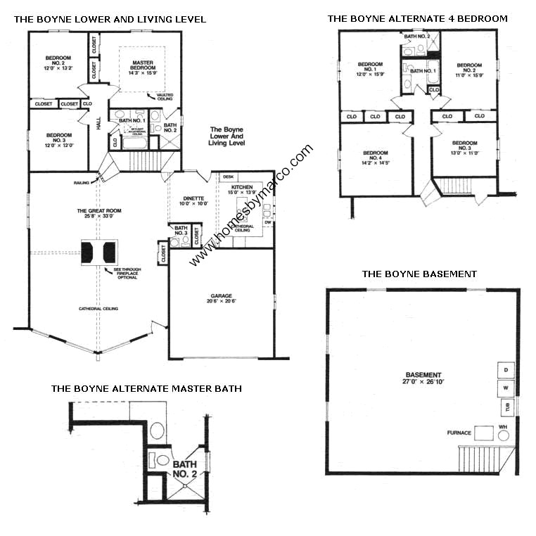 Boyne model in the brook hills subdivision in orland park for Lucky 4 ranch floor plan