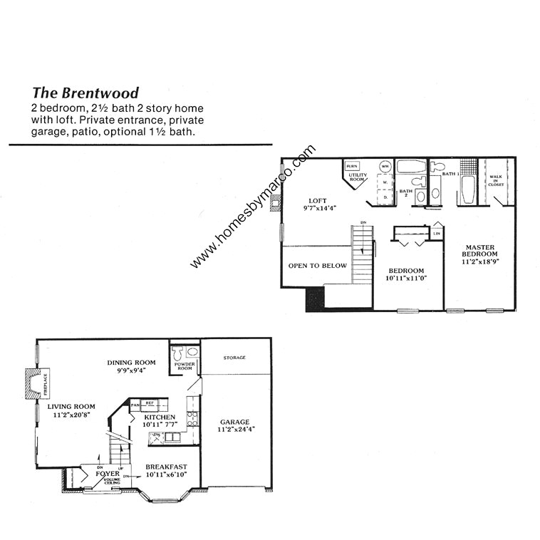 Brentwood model in the lake arlington towne subdivision in for Brentwood floor plan
