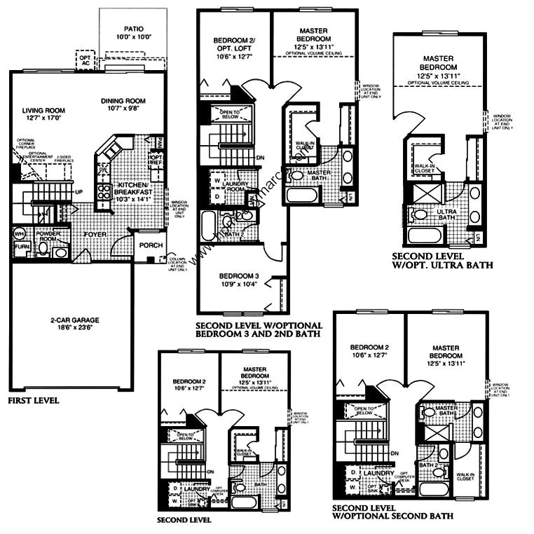 Brighton model in the lakewood grove subdivision in round for Brighton floor plans