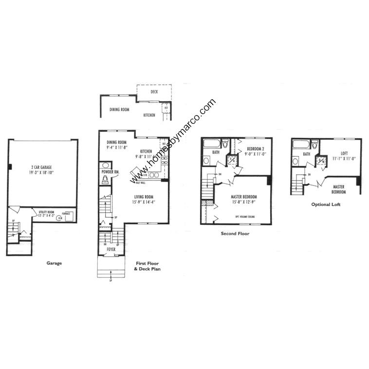 Brighton model in the greystone subdivision in gurnee for Greystone homes floor plans