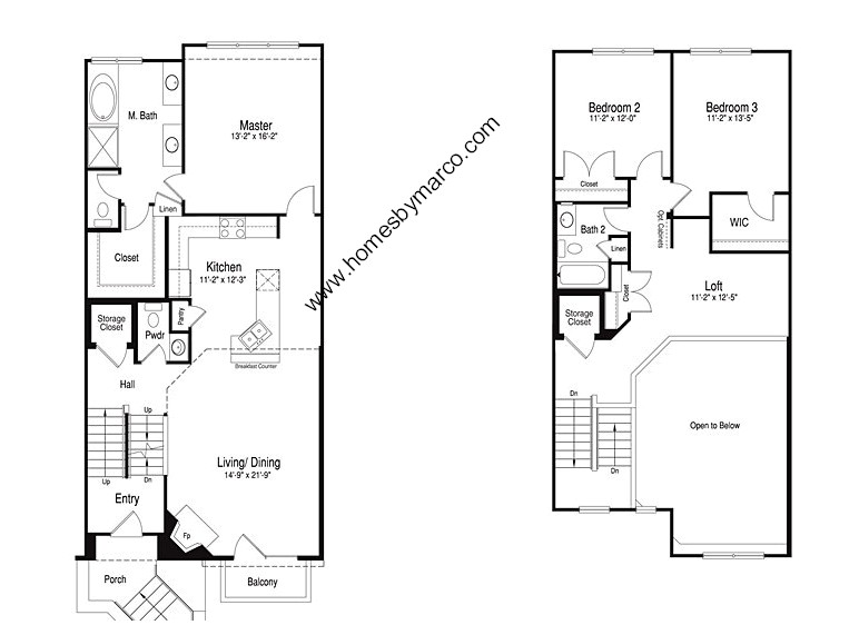 Homes By Marco Floor Plans: Broadmoor Model In The Hamptons Of Hinsdale Subdivision In
