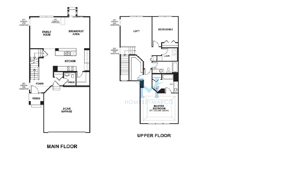 Buckingham 1 model in the sheffield square subdivision in for Buckingham choice floor plans