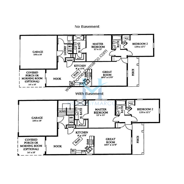 Bungalow Model In The Riverbend Subdivision In Genoa