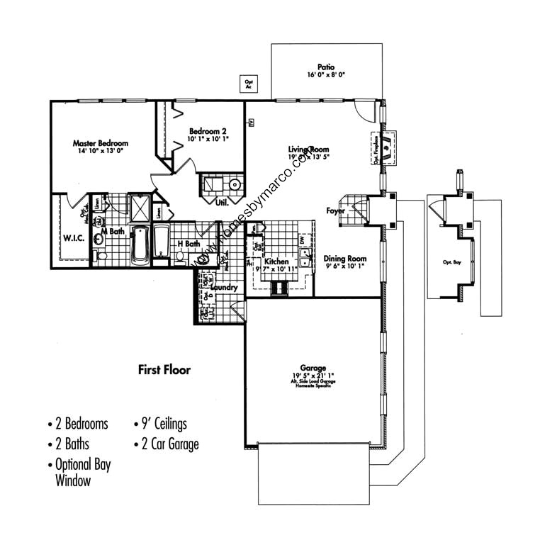 Burberry model in the canterbury place subdivision in Canterbury floor plan