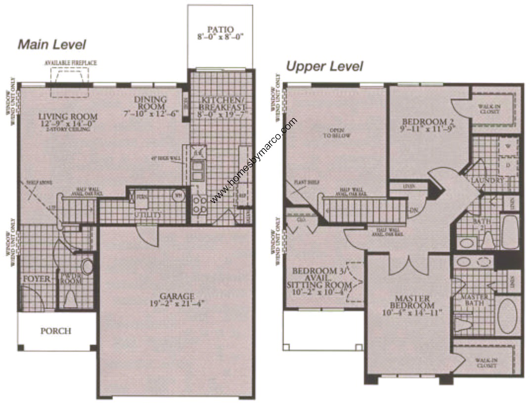 Butterfield model in the covington lakes subdivision in for Covington floor plan