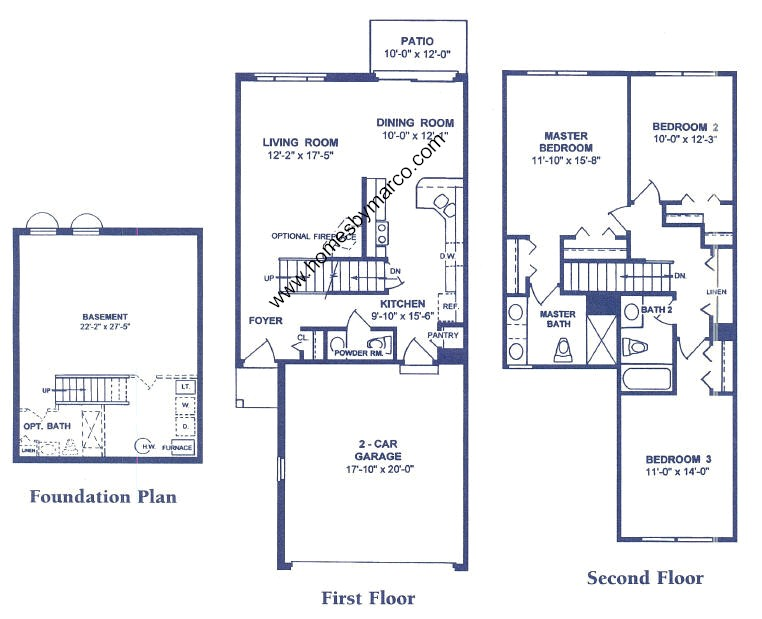 Canterbury model in the riverbrook west subdivision in for Canterbury floor plan
