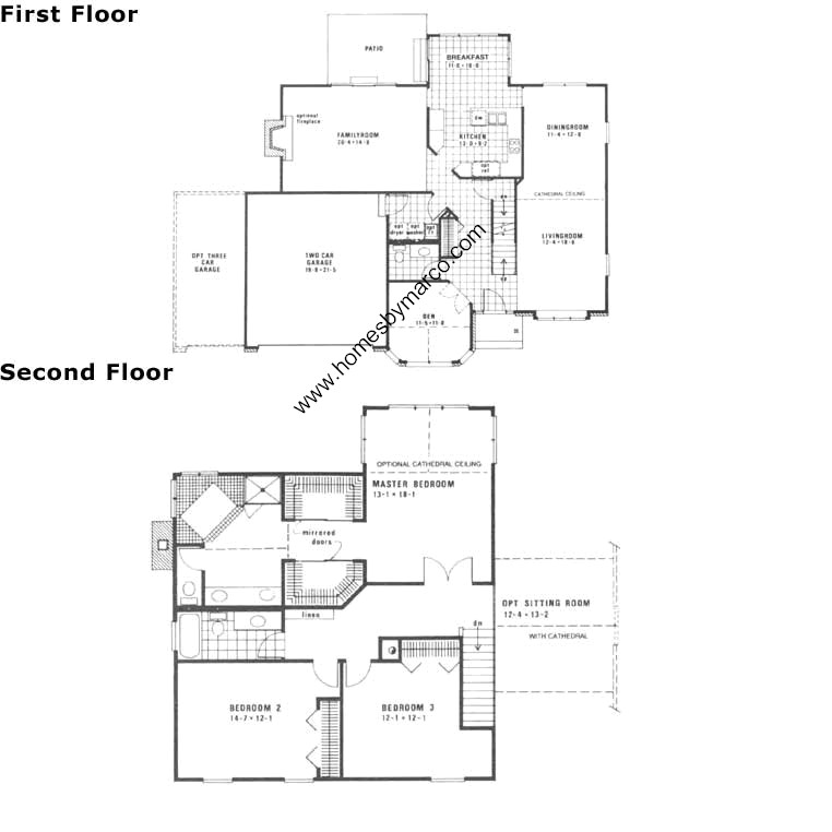 Canterbury model in the montgomery crossings subdivision Canterbury floor plan
