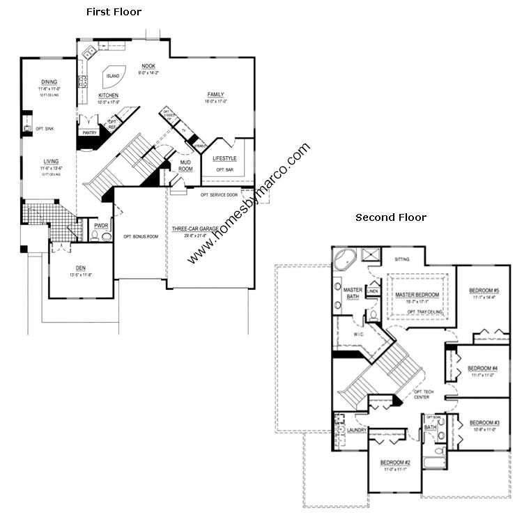 Canterbury model in the remington grove subdivision in Canterbury floor plan