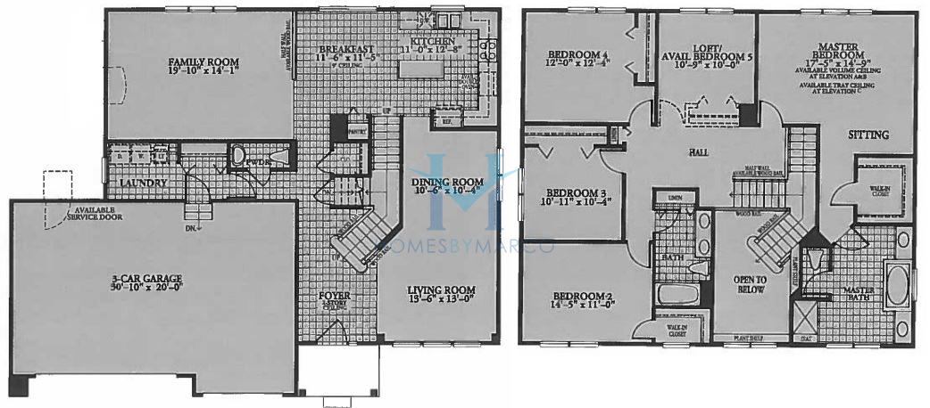 Canterbury model in the cambridge lakes subdivision in Canterbury floor plan