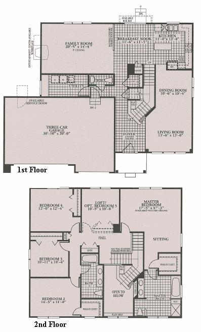 Canterbury model in the the woodlands subdivision in Canterbury floor plan