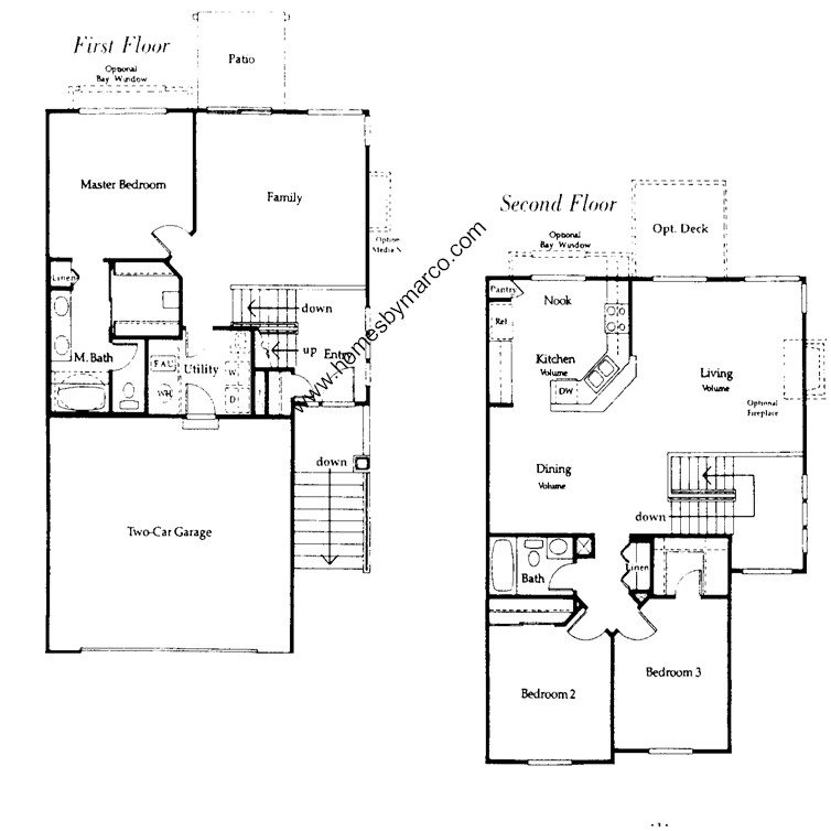 Capri i model in the tenerife subdivision in buffalo grove for Capri floor plan