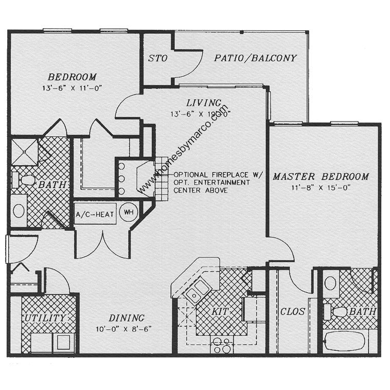 Carlysle model in the stratford court subdivision in lake for Stratford homes floor plans