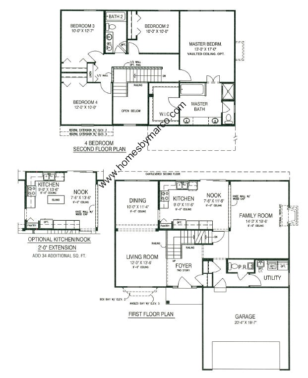 Carrington model in the Kensington Club subdivision in Plainfield – Carrington Homes Floor Plans