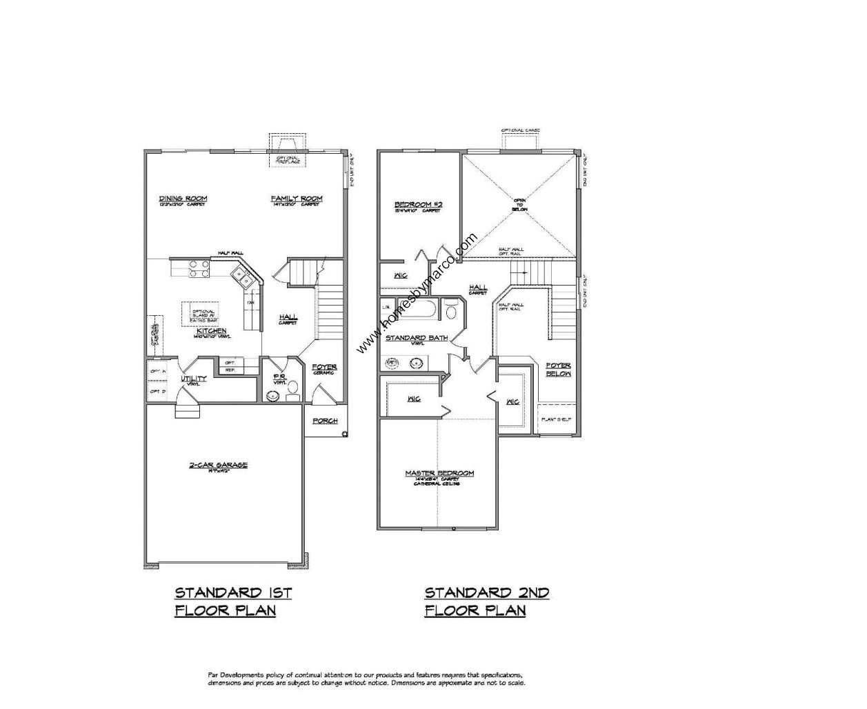 Homes By Marco Floor Plans: Carrington Model In The West Lake Subdivision In Cary