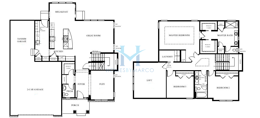 Homes By Marco Floor Plans: Cascade Model In The Lions Chase Subdivision In Huntley
