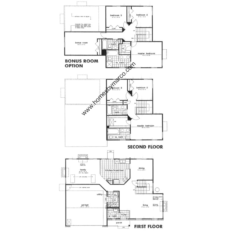 Challet model in the apple country subdivision in wauconda Floor plan mac