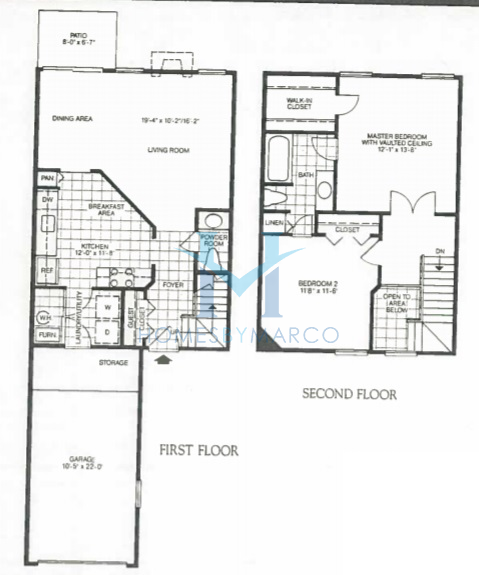Subdivision floor plan claremont model in the old farm for The villages gardenia floor plan