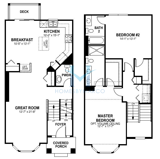 Clark model in the sheffield square subdivision in orland for Sheffield floor plan