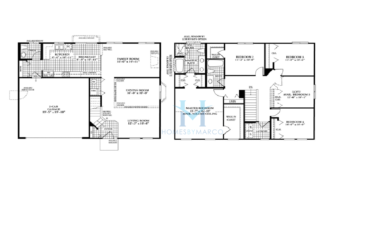 Dr Horton Cambridge Floor Plan