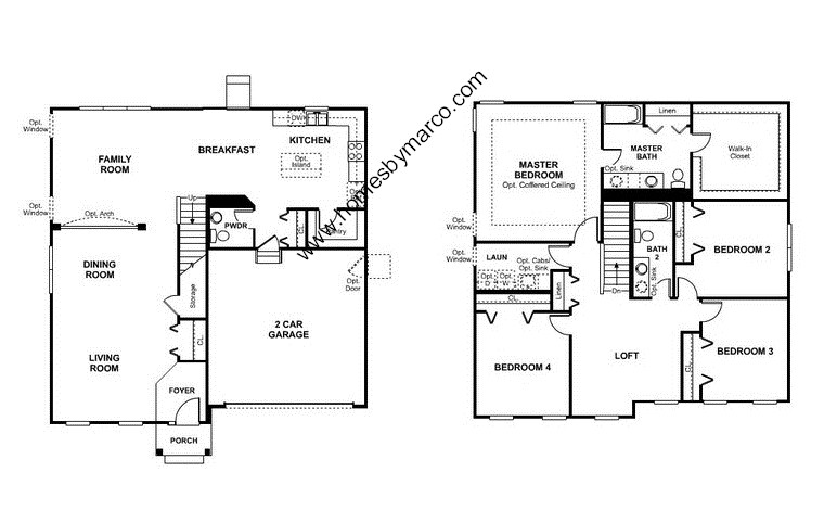 Homes By Marco Floor Plans: Colchester Model In The Providence Subdivision In Elgin