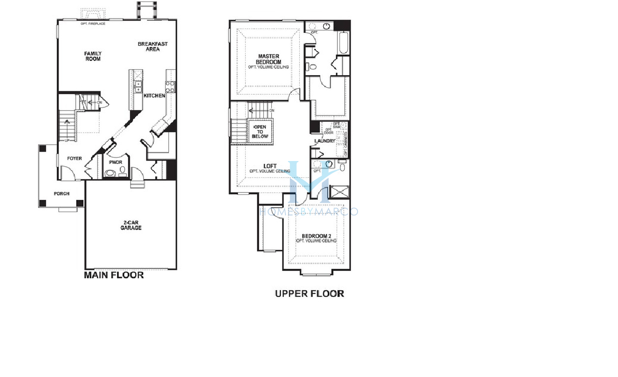 Mi Homes Floor Plans: Columbus-2 Model In The Sheffield Square Subdivision In
