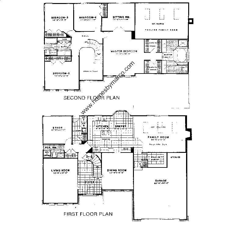 South Ridge Floor Plans: Country Manor Model In The Southridge Subdivision In