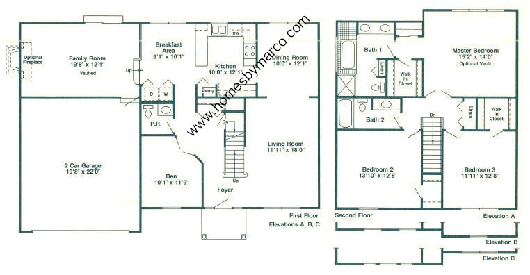 Coventry model in the walnut hills subdivision in bartlett for Coventry homes floor plans
