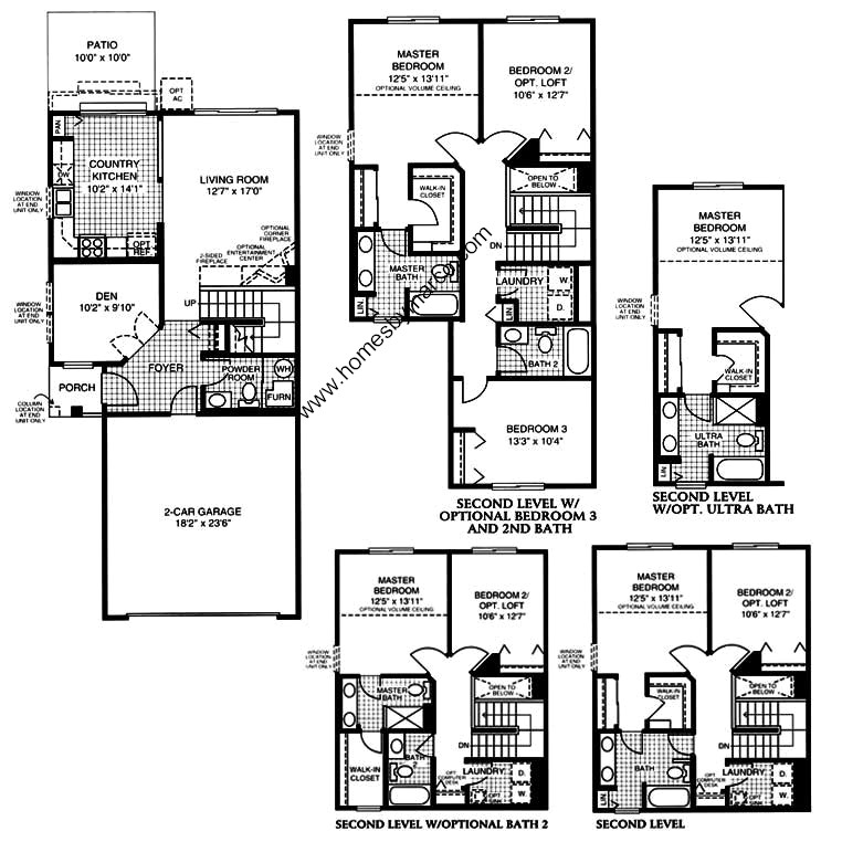 Coventry model in the lakewood grove subdivision in round for Coventry homes floor plans