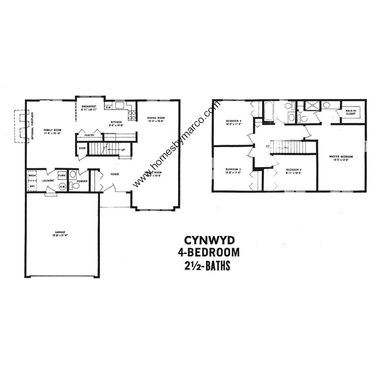 Cynwyd model in the devonshire subdivision in buffalo for Devonshire floor plan