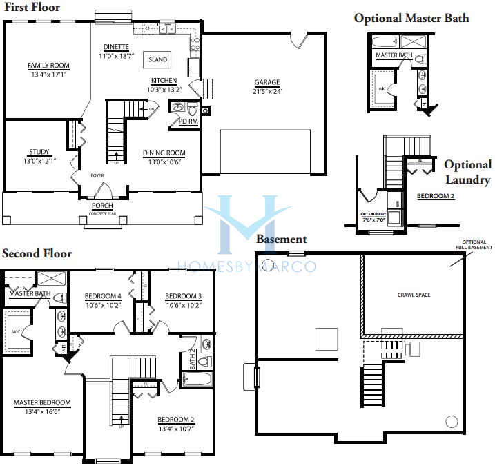 Cypress model in the nantucket lakes subdivision in new for The lenox floor plan