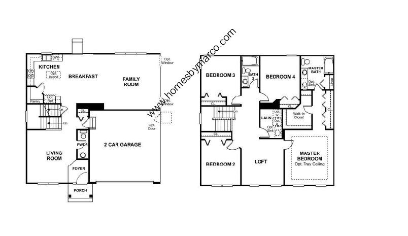 Homes By Marco Floor Plans: Tall Grass Ridge Subdivision In Mundelein, Illinois, Homes