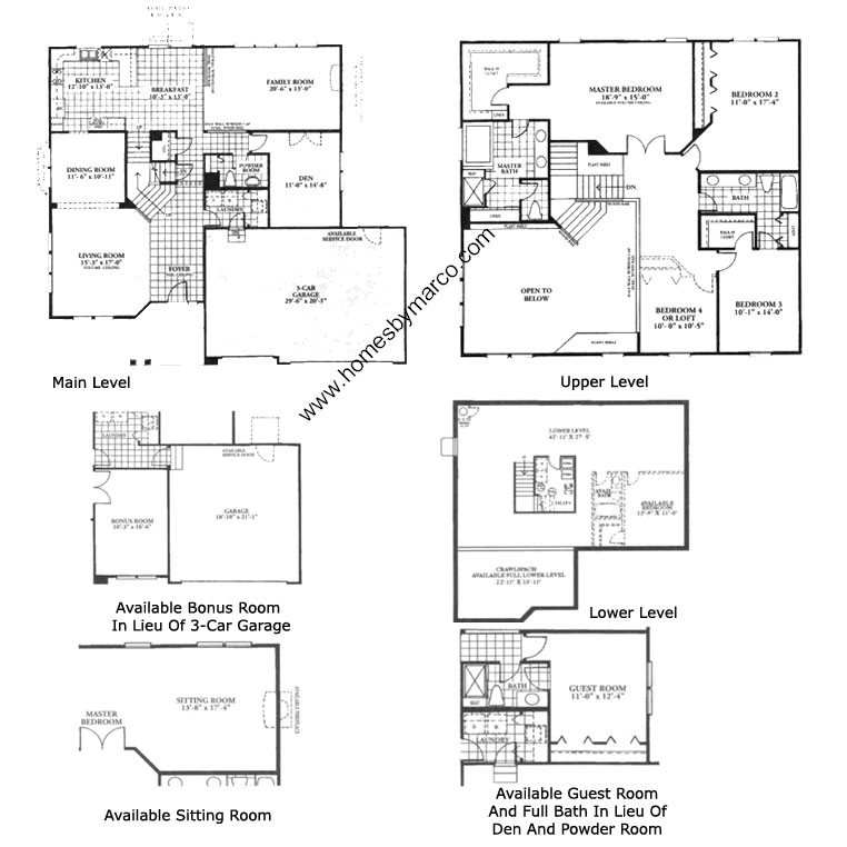 Dawson model in the sterling ridge subdivision in cary for Sterling plan